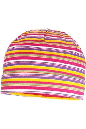 maximo Girl's Mütze mit Umschlag Hat, Multicoloured-Mehrfarbig (dunkelpink-mariegold-lila)