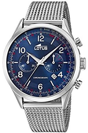 Lotus Watches Mens Chronograph Quartz Watch with Stainless Steel Strap 18555/3