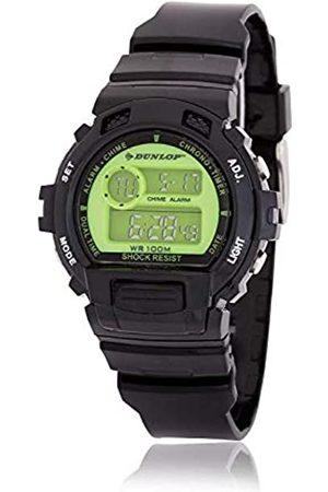 Dunlop Unisex Adult Digital Quartz Watch with Rubber Strap DUN191G12