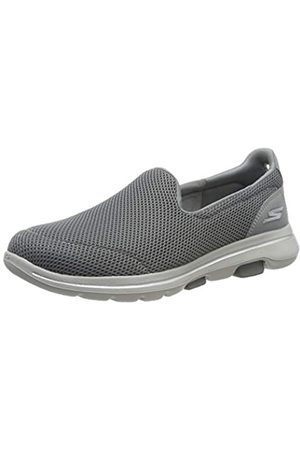 Skechers Women's GO Walk 5 Slip On Trainers, (Gray Textile/Trim Gry)