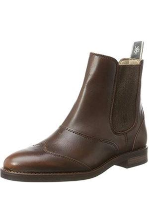 Marc O'Polo Women's Flat Heel 70814225002124 Chelsea Boots, (brandy)