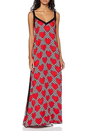 Love Moschino Women's Sleeveless Long Dress_Allover Hearts Prints