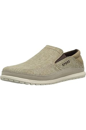 Crocs Men's Santa Cruz Playa Slip-On Loafers, (Khaki/Stucco 26p)