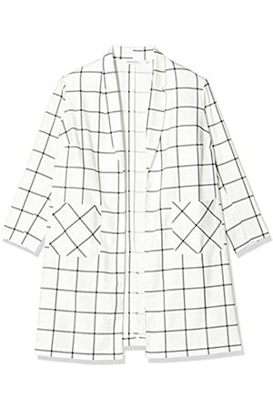 Simply Be Women's Ladies Check Print Duster Jacket, (Ivory 001)