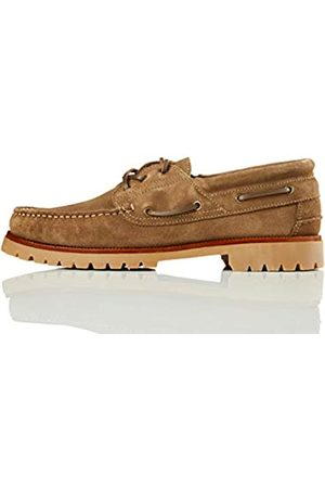FIND Amazon Brand - Men's sailing leather shoes, ( (sand))