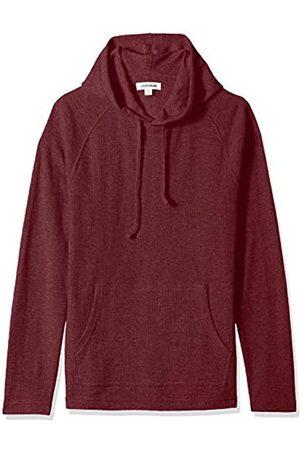 Goodthreads Amazon Brand - Men's Long-sleeve Slub Thermal Pullover Hoodie T-Shirt, Purple (burgundy)