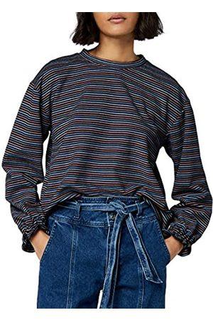 FIND Stripe High Neck Sweatshirt, Multicolor)