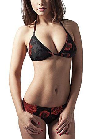 Urban Classics Women's Ladies Triangle Bikini, Black/White, X-Small