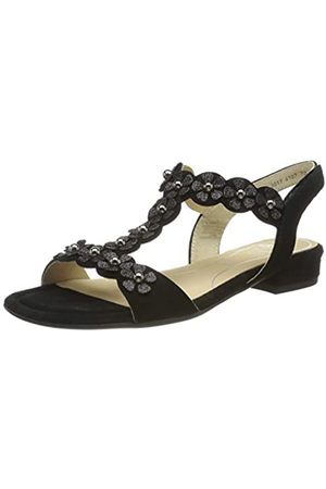 ARA Women's Vegas 1216835 T-Bar Sandals, (Schwarz 01)