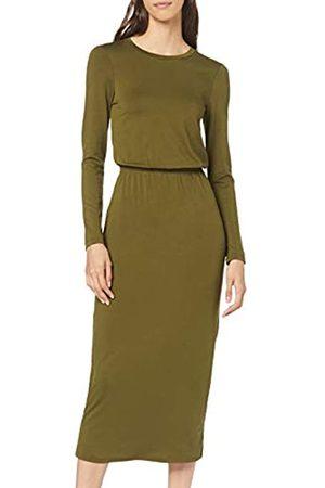 find. Elastic Waist Jersey Maxi Dress Casual