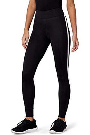 AURIQUE Amazon Brand - Women's Side Stripe 7/8 Sports Leggings, 12