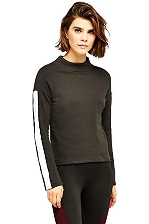 AURIQUE Amazon Brand - Women's Side Stripe Sweatshirt, 10