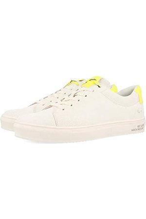 Gioseppo Men's Burbank Low-Top Sneakers, (Blanco Blanco)