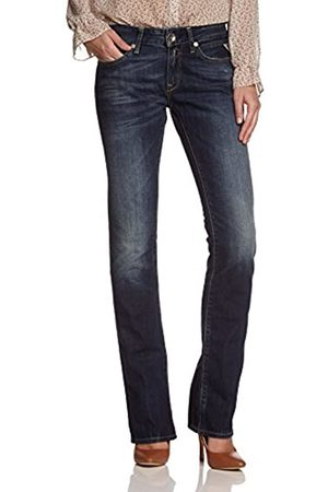 Replay Women's Straight Fit Jeans - - Blau (9) - 27/34 (Brand size: 27/34)