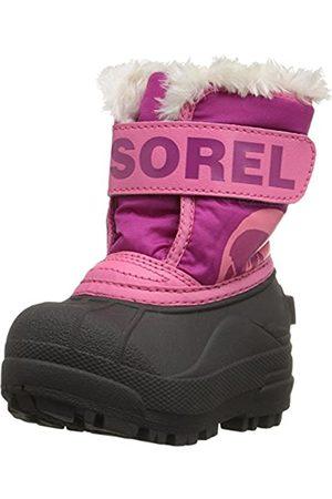 sorel Baby Unisex Boots, TODDLER SNOW COMMANDER, (Tropic )/ (Deep Blush)