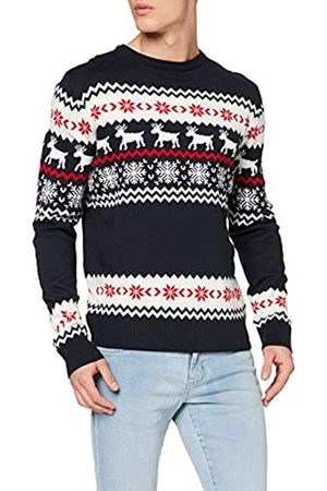 Urban classics Men's Ugly Sweater Norwegian Christmas Pulli Weihnachts-Pullover Sweatshirt