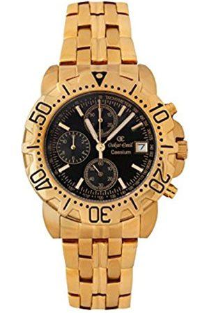 Oskar Emil Oskar-Emil Classic Chrongraph Caesium 1119G Men's Quartz Watch with Dial Analogue Display and Stainless Steel Plated Bracelet