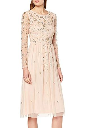 Frock and Frill Women's Gala Long Sleeve Embellished Midi Party Dress