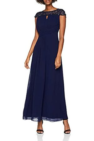 Little Mistress Women's Pearl Maxi Dress, (Navy)