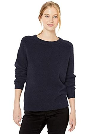 Daily Ritual Cozy Boucle Crewneck Pullover Sweater Navy
