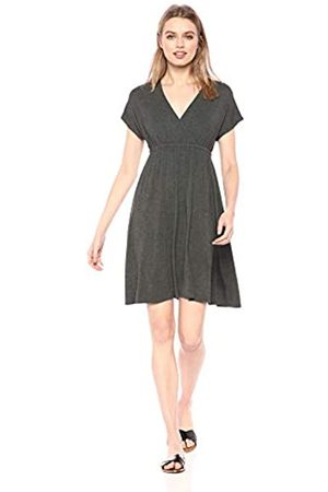 Amazon Solid Surplice Dress Casual