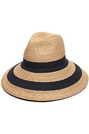 Gottex Women's Newport Raffia/Toyo Fedora Sun Hat, Rated UPF 50+ for Max Sun Protection