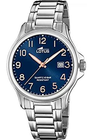 Lotus Mens Analogue Quartz Watch with Stainless Steel Strap 18645/2