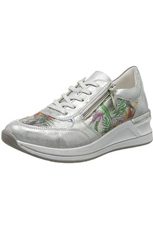 Remonte Women's D3201 Low-Top Sneakers, Argento/Ice-Multi 90