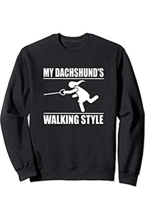 ToonTyphoon Humorous Dachshund ( Women ) Walking Style Sweatshirt