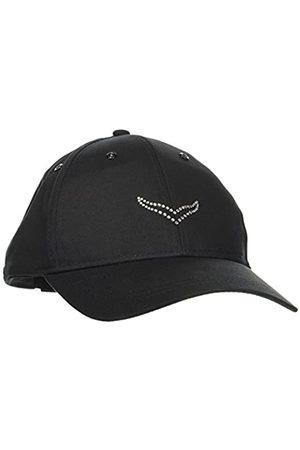 Trigema Women's Damen Baseballmütze Schwinge Baseball Cap, -Schwarz (Schwarz 008)