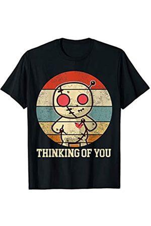 My Shirt Hub Retro Vintage Thinking of You | Funny Voodoo Doll Love Joke T-Shirt