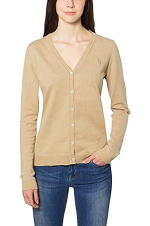 Berydale Women's Cardigan with Button Placket and V-Neck, (camel)