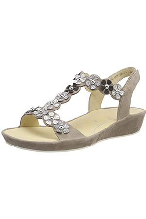 ara Women's Capri 1228009 T-Bar Sandals, (Taupe/Silber, Iron/Schwarz 07)