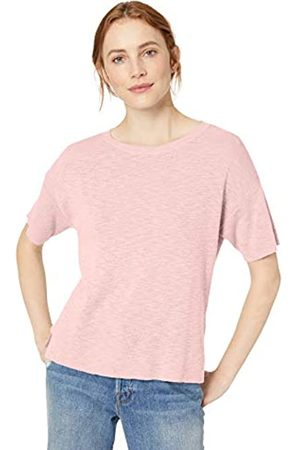 Daily Ritual Women's Lightweight Short-Sleeve Open-Crewneck Sweater