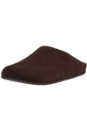 Fitflop Men's Shove Mule Leather' Open Back Slippers, (Chocolate 167)