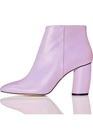 FIND Women's Square Toe Ankle Boots, (Lilac)