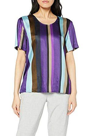 Seidensticker Women's Shirtbluse Kurzarm Modern fit Gestreift-100% Viskose Blouse