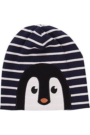 Green Cotton Boy's Penguin Stripe Beanie Hat