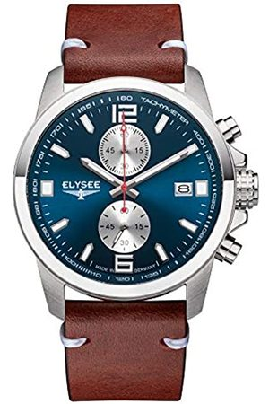 ELYSEE Unisex Adult Analogue Quartz Watch with Leather Strap 80571