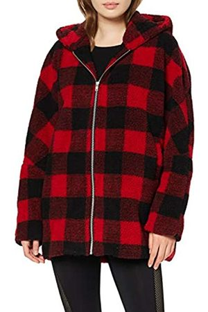 Urban classics Urban Classic Women's Ladies Hooded Oversized Check Sherpa Jacket