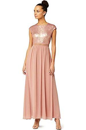TRUTH & FABLE Amazon Brand - Women's Maxi Chiffon A-Line Dress, 16
