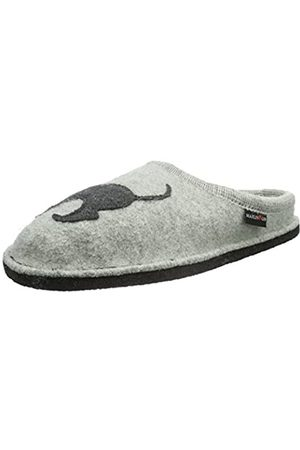 Haflinger Flair Dachshund, unisex adult slippers, Gray (Stone Gauze 84)