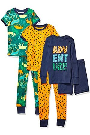 Spotted Zebra 6-piece Snug-fit Cotton Pajama Set Wild Adventure, 4T