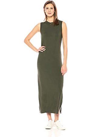 Daily Ritual Women's Jersey Mock-Neck Maxi Dress