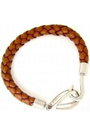 CORED C30-schwarz Bracelet Leather with Stainless Steel Hook Clasp 21 cm