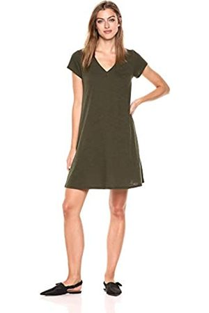 Daily Ritual Lightweight Lived-in Cotton V-neck Short Sleeve Dress Casual