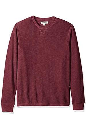 Goodthreads Amazon Brand - Men's Long-sleeve Slub Thermal Crewneck T-Shirt, Purple (burgundy)