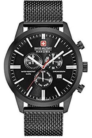 Swiss Military Mens Chronograph Quartz Watch with Stainless Steel Strap 06-3308.13.007