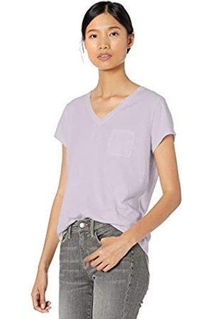 Goodthreads Washed Jersey Cotton Pocket V-neck T-shirt Lavender