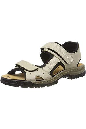 Rieker Men's 25084-60 Closed Toe Sandals, (Crema/Schwarz 60)